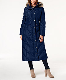 London Fog Faux-Fur-Trim Puffer Coat