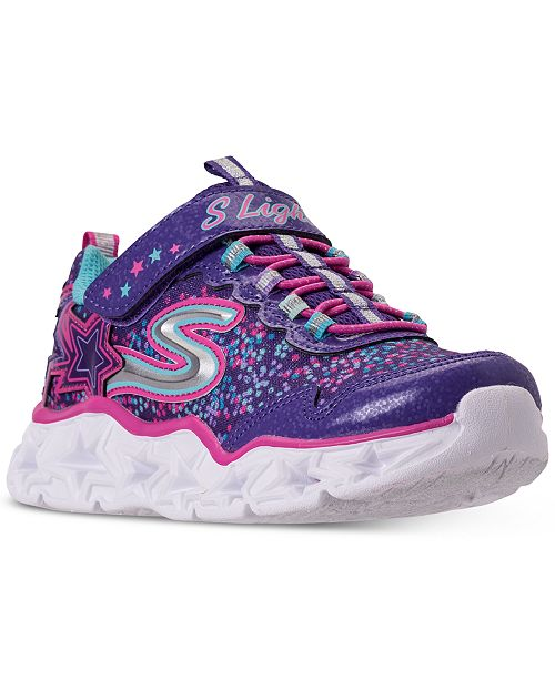Skechers Little Girls' S Lights: Galaxy Lights Light-Up Athletic Sneakers from Finish Line