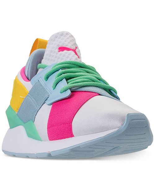 Puma Girls  Muse Jr. Casual Sneakers from Finish Line   Reviews ... 260589682