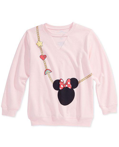 0316c8aaa Disney Big Girls Minnie Mouse Sweatshirt   Reviews - Sweaters ...