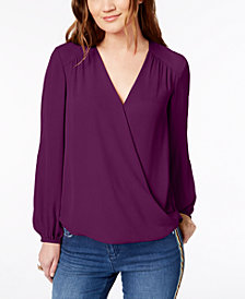 I.N.C. Surplice Top, Created for Macy's