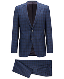 BOSS Men's Slim-fit Checked Suit
