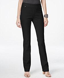 I.N.C. Pull-On Straight-Leg Pants, Created for Macy's