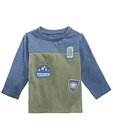 First Impressions Baby Boys Colorblocked Patches T-Shirt, Created for Macy's