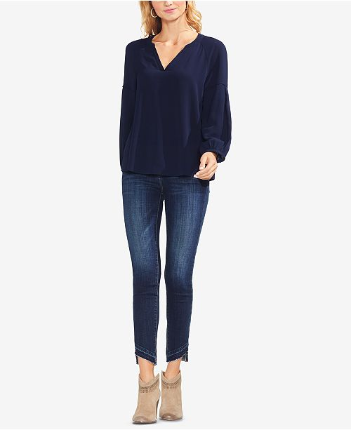 Camuto Classic Navy Top Neck V Vince zOUxRq0R