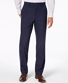 Lauren Ralph Lauren Men's Classic-Fit UltraFlex Stretch Navy Neat Check Dress Pants