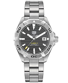 TAG Heuer Men's Swiss Automatic Aquaracer Calibre 9 Stainless Steel Bracelet Watch 41mm