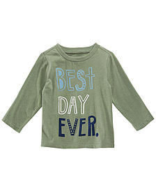 First Impressions Toddler Boys Best Day-Print Cotton T-Shirt, Created for Macy's
