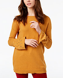 MICHAEL Michael Kors Studded-Cuff Sweater