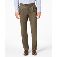 Deals on Lauren Ralph Lauren Classic-Fit Micro-Twill Pleated Dress Pants