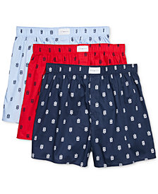 Tommy Hilfiger Men's 3-Pk. Classic Printed Woven Cotton Boxers