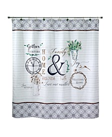 "Modern Farmhouse Printed 72"" x 72"" Shower Curtain"