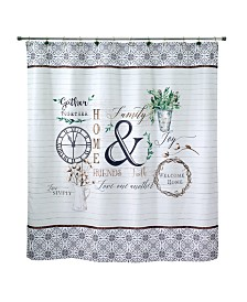 "Avanti Modern Farmhouse Printed 72"" x 72"" Shower Curtain"