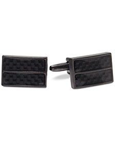 Kenneth Cole Reaction Men's Carbon Fiber Cuff Links