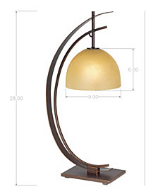 kathy ireland home by Pacific Coast Arc Orbit Bronze Table Lamp