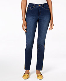 Charter Club Side-Stripe Skinny Ankle Jeans, Created for Macy's