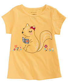 First Impressions Toddler Girls Squirrel Graphic T-Shirt, Created for Macy's