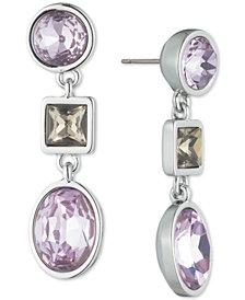 DKNY Stone Linear Drop Earrings