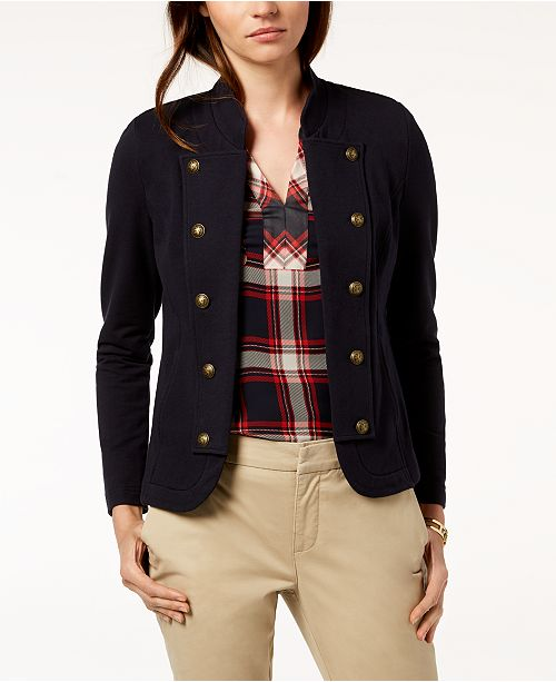 a2bec96380d9c Tommy Hilfiger Military Band Jacket   Reviews - Jackets   Blazers ...