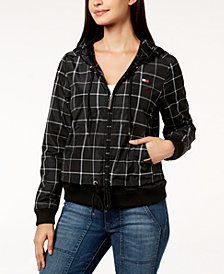 Tommy Hilfiger Sport Hooded Plaid Active Jacket, Created for Macy's