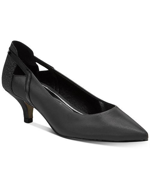 a37b75ed67e Easy Street Fancy Kitten-Heel Pumps   Reviews - Pumps - Shoes - Macy s