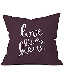 Deny Designs Allyson Johnson Love Lives Here Throw Pillow