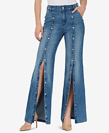 WILLIAM RAST Split Wide-Leg Jeans