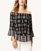 794e5663369 Style   Co Printed Off-The-Shoulder Top