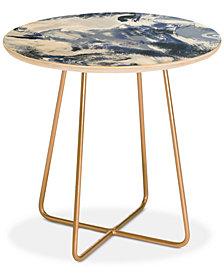 Deny Designs Jacqueline Maldonado  Mist Blue Round Side Table