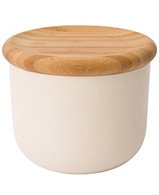 """Leo Collection 3.34"""" Bamboo Covered Canister"""