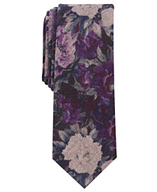 Bar III Men's McLaren Floral Skinny Tie, Created for Macy's