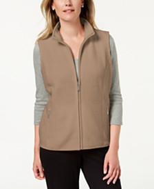 Karen Scott Petite Zip-Front Vest, Created for Macy's
