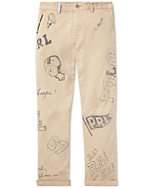 Polo Ralph Lauren Big Boys Slim Fit Graphic Cotton Chino Pants