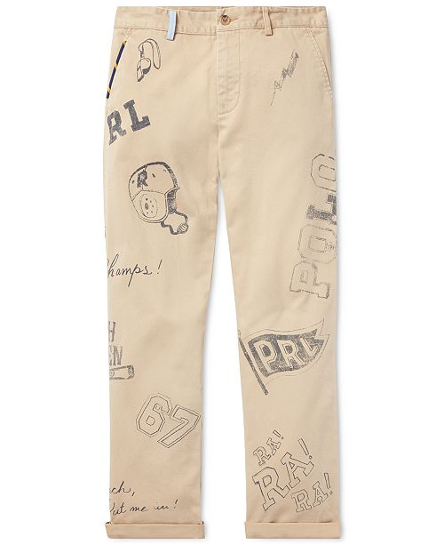 0395266c4ac06 ... Polo Ralph Lauren Big Boys Slim Fit Graphic Cotton Chino Pants ...