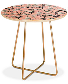 Deny Designs Lisa Argyropoulos Peonies Mono Blush Round Side Table