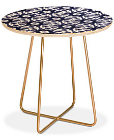Deny Designs Jacqueline Maldonado Watercolor Shibori Slate Round Side Table