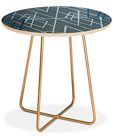 Deny Designs Mareike Boehmer Geometric Sketches 1 Round Side Table
