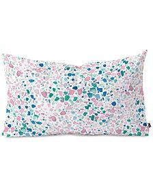 Deny Designs Jacqueline Maldonado Magic Terrazzo Pink Oblong Throw Pillow