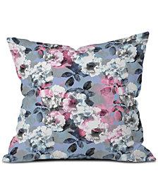Deny Designs Emanuela Carratoni Vintage Floral Theme Throw Pillow