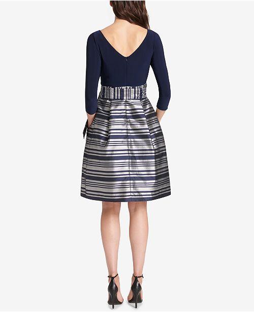 59d2742307c Jessica Howard Metallic-Skirt Fit   Flare Dress   Reviews - Dresses ...