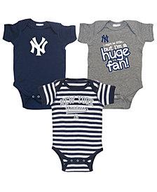 Soft As A Grape New York Yankees Huge Fan 3-Piece Set, Infants (12-24 Months)