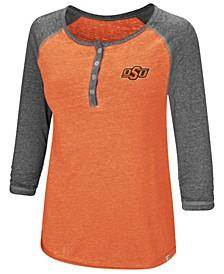 Women's Oklahoma State Cowboys Burnout Heather Henley T-Shirt
