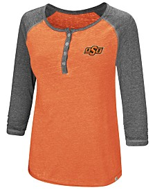 Colosseum Women's Oklahoma State Cowboys Burnout Heather Henley T-Shirt