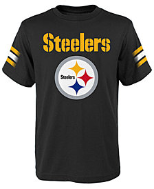 Outerstuff Pittsburgh Steelers Goal Line T-Shirt, Big Boys (8-20)