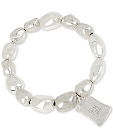 Robert Lee Morris Soho Silver-Tone Sculptured Bead Stretch Bracelet