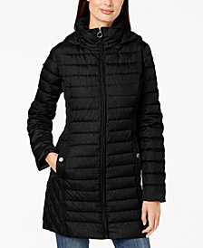 MICHAEL Michael Kors Petite Hooded Puffer Coat