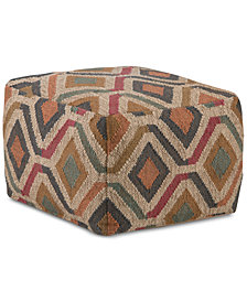 Patsie Square Pouf, Quick Ship