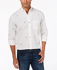 Club Room Men's Bulldog Oxford Shirt, Created for Macy's