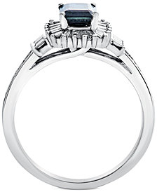 Sapphire (1 ct. t.w.) & Diamond (1/3 ct. t.w.) in 14k White Gold