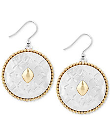Lucky Brand Two-Tone Patterned Drop Earrings